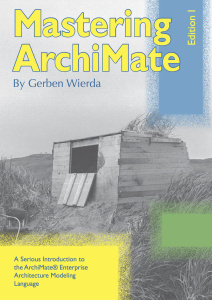 "Cover for the first edition of ""Mastering ArchiMate"""
